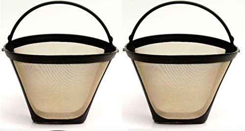 2 Pack Cuisinart Gold Tone Permanent Replacement Coffee Filter front-633535