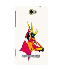 EPICCASE Artistic deer Mobile Back Case Cover For HTC Windows Phone 8S (Designer Case)