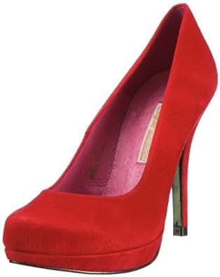 Buffalo 9669-177 BL, Escarpins femme - Rouge (Kid suede red), 36 EU