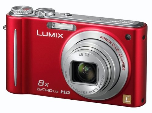 Panasonic Lumix ZX3 Digital Camera - Red (14.1MP, 8x Optical Zoom) 2.7 inch LCD