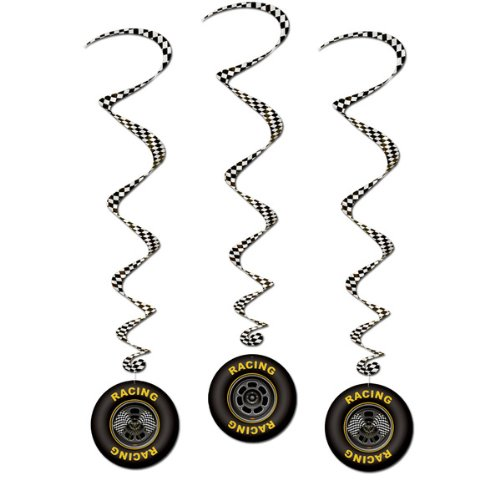 Race Car Whirls Package of 3