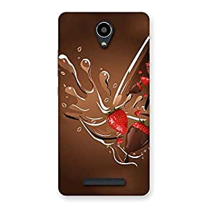 Delighted Straberry And Chocolates Multicolor Back Case Cover for Redmi Note 2