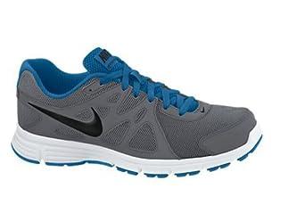 Nike Men's Revolution 2 Dark Grey/Military Blue/White/Black 6 D - Medium
