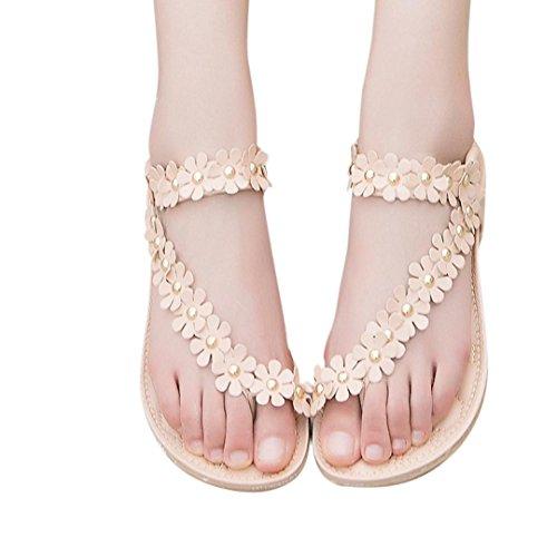 Fheaven Women's Flirty Braidy Single Layer Classic Leather Sandal (US:6.5, Khaki) (3g Slide Mat compare prices)