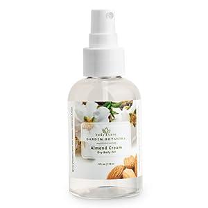 Garden Botanika Almond Cream Dry Body Oil, Off White, Almond, 4 Fluid Ounce by Garden Botanika