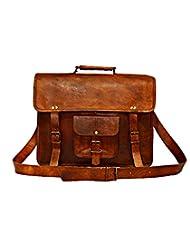Digital Rajasthan Leather Brown Messenger Bag