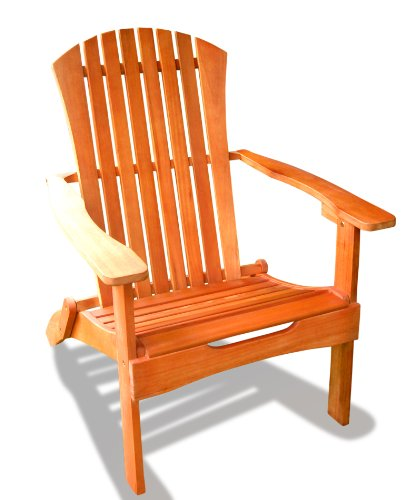 VIFAH V384 Outdoor Wood Foldable Adirondack Chair, Optional Wood Stain Kits, 31 by 35 by 41-Inch