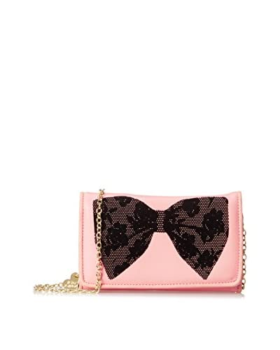 Betsey Johnson Women's Flock-A-Bows Wallet On A String, Blush