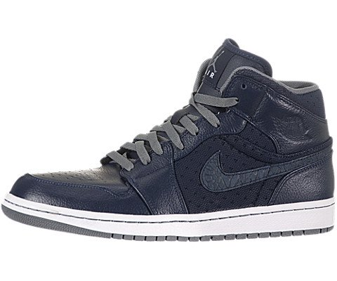 Nike Air Jordan 1 Phat Mens Basketball Shoes 364770 402 Obsidian Cool Grey  White Mens Shoes 46d8d03eb