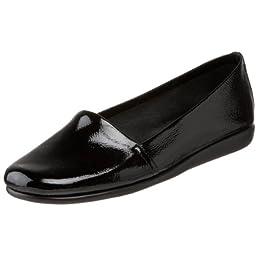Aerosoles Women\'s Mr Softee Slip-On Loafer,Black Patent,9 W