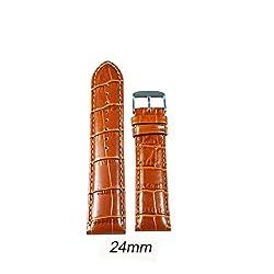 Like 24 mm Croco Leather Padded Watch Strap (Tan)