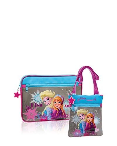 Disney Borsa A Tracolla + Custodia Tablet Sisters Forever [Multicolore]