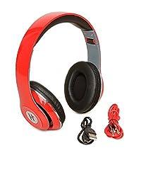 Hottech Bluetooth Headphone - Red