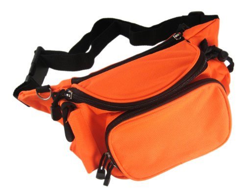 Things2Die4 Blaze Orange Nylon Fanny Pack Waist Bag Safety