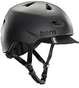 Bern Brentwood Summer Helmet with Visor,Small/Medium,Black Matte