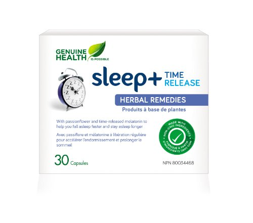 Sleep+ Time Release (30Capsules) Brand: Genuine Health front-22688