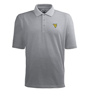 Antigua West Virginia Mountaineers Classic Pique Polo by Antigua