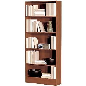 Libreria scaffalatura 5 vani ufficio studio legno ciliegio for Libreria amazon