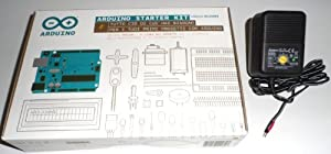 THE ARDUINO STARTER KIT WITH BOOK OF PROJECTS IN ENGLISH AND POWER SUPPLY FOR BREADBOARD