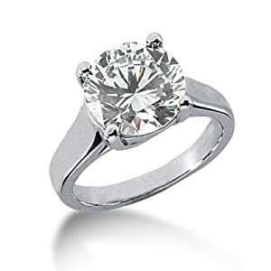 Platinum Solitaire Diamond Engagement Ring 4.00 ctw. 430 - Size 4