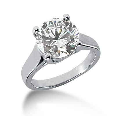 Platinum Solitaire Diamond Engagement Ring 4.00 ctw. 430