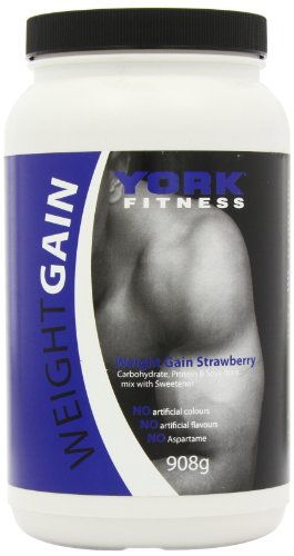 York Weight Gain 908 g Strawberry Weight Gain Shake Powder