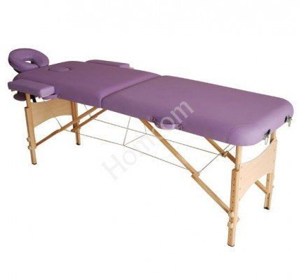 Lightweight 2 Section Portable Massage Table - Purple