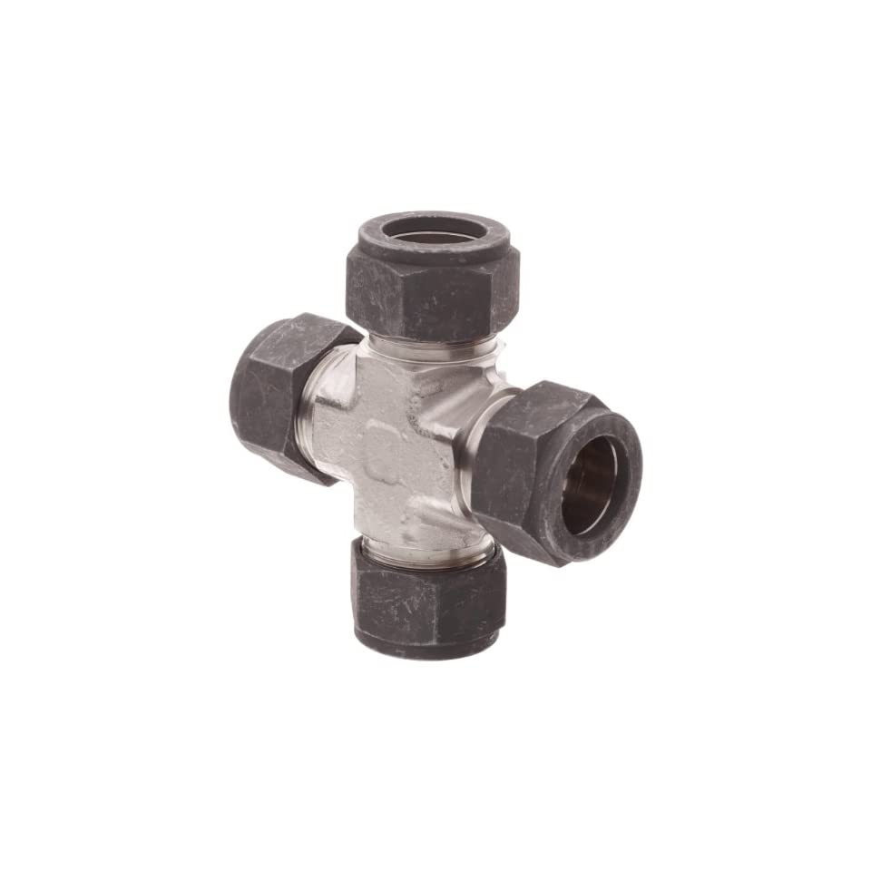 Parker CPI 12 KBZ SS 316 Stainless Steel Compression Tube Fitting, Cross, 3/4 Tube OD