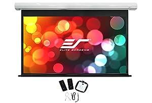Elite Screens Saker Plus, 235-inch 16:9, Large Electric Motorized Drop Down Projection Projector Screen, Model: SK235XHW2