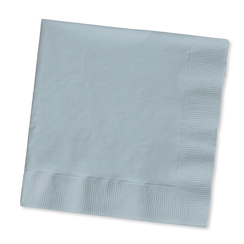 Creative Converting Touch of Color 2-Ply 50 Count Paper Beverage Napkins, Shimmering Silver