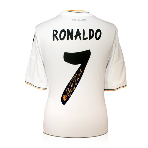 newest 5283c ff839 Sale Cristiano Ronaldo Signed Real Madrid Soccer Jersey Best ...