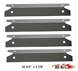 97311(4-pack) Stainless Steel Heat Plate for Brinkmann, Charmglow Models Grills from BBQ Mart
