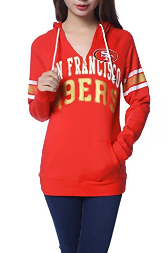 Women's San Francisco 49ers Concepts Sport Scarlet Facade Long Sleeve Hooded Pajama Top