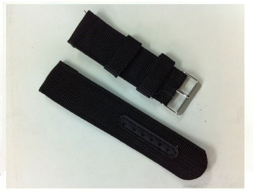 INFANTRY Military Army Black Nylon Fabric Canvas Watch Band Strap 20mm Strong Heavy Duty #NYS-BLK-20