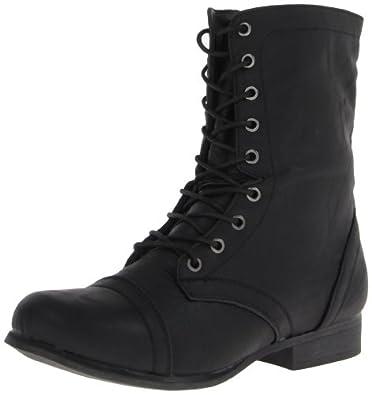 Madden Girl Women's Gamer Lace-Up Boot,Black Paris,6 M US