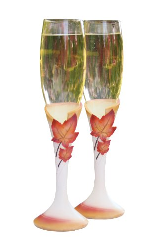 Hortense B. Hewitt Wedding Accessories Simply Autumn Toasting Flutes, Set of 2