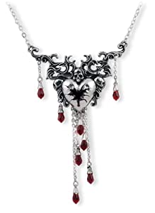Bleeding Heart Alchemy Gothic Necklace