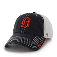 Detroit Tigers 47 Brand Navy White Ripley Mesh Flexfit Hat Cap by