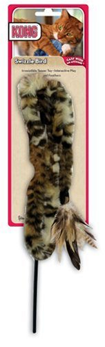KONG Swizzle Bird Cat Toy, Brown/Black