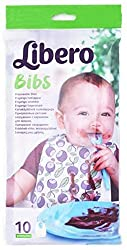 Libero Baby Disposable Bibs, White (Pack of 10)