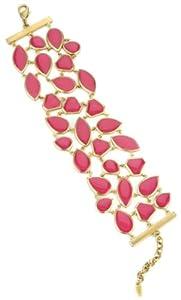 Isharya Big Shattered Enamel Honeysuckle Cuff Bracelet