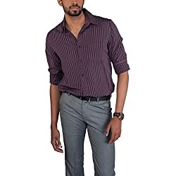 Provogue Men's Casual Shirt (8903522441288_103525-VI-219_X-Large_Purple)