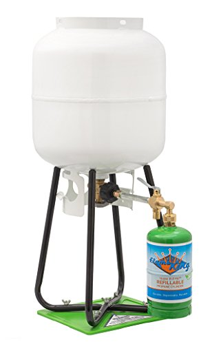 Flame King YSN1LBKT Refillable 1 lb Propane Cylinder with Propane Refill Adapter and Propane Tank Refill Stand (Refillable Propane compare prices)
