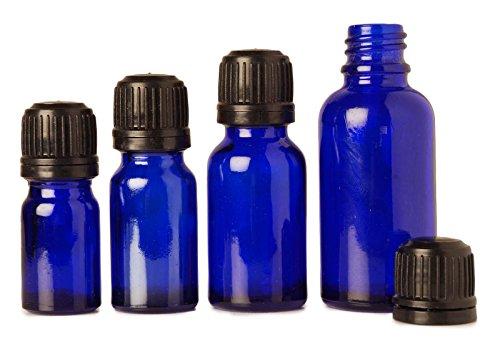 Bouteilles de sérum verre bleu euro-gouttes 30 ml de cobalt gros boston Tamper ronde évident bouteilles à bouchon beaucoup d'huile d'aromathérapie de 12 bouteille vide