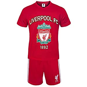 Liverpool FC Official Football Gift Mens Loungewear Short Pyjamas Red Large by Liverpool FC
