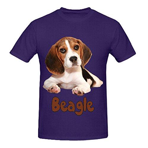 the-beagle-dog-men-o-neck-graphic-shirts-purple