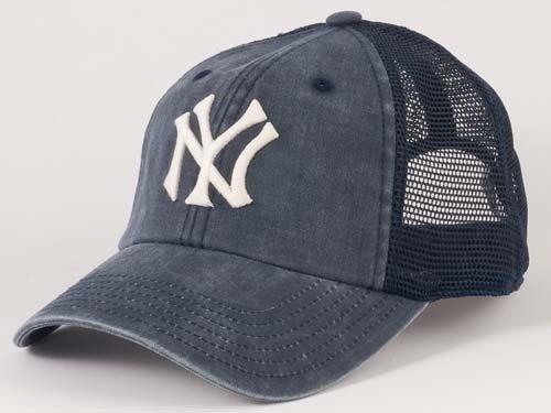 New York Yankees MLB American Needle Raglan Bones Soft Mesh Back Slouch  Twill Cap Navy ca6301b3e1e5