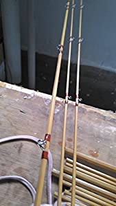 "Split Bamboo Fly Rod 6'9"" for #3 Line Wt ,2 Piece with 2 Tips by zhu"