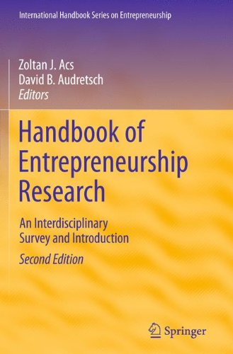 Handbook of Entrepreneurship Research: An Interdisciplinary