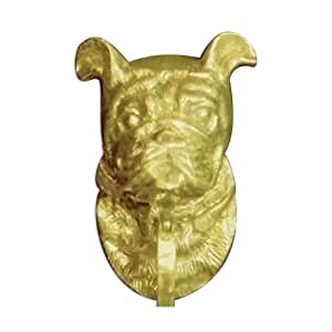 Mayer Mill Brass Decorative Polished Antique Bull Dog Door Knocker